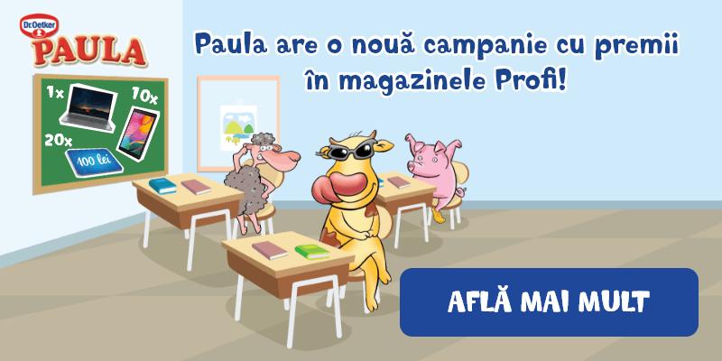 Paula are o nouă campanie cu premii în magazinele Profi! Află mai mult